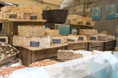 Nougat shop in Les Baux de Provence, France royalty free stock photography