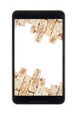 Nougat in smartphone Royalty Free Stock Images