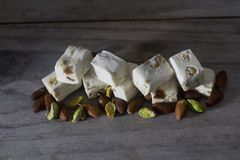 Nougat on a Table Stock Image