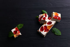 Nougat with tropical fruit Royalty Free Stock Photos
