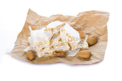 Nougat or turron for Christmas Royalty Free Stock Photos