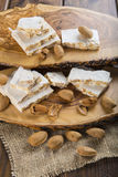 Nougat or turron for Christmas Royalty Free Stock Image