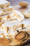 Nougat or turron for Christmas Royalty Free Stock Images
