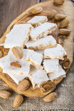 Nougat or turron for Christmas Royalty Free Stock Photo