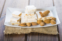 Nougat or turron for Christmas Stock Photography