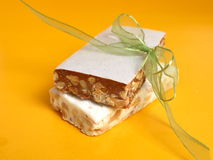 Nougat in two flavors Stock Photo