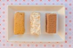 Nougat, un dessert typique de Noël en Espagne photographie stock