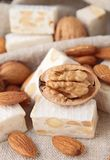 Nougat with walnut Stock Image
