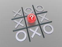 Noughts and crosses. 3D render noughts and crosses Royalty Free Stock Photography