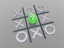 Noughts and crosses. 3D render noughts and crosses Stock Images