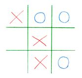 Noughts and crosses game Royalty Free Stock Photography