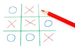 Noughts and crosses game Stock Photo