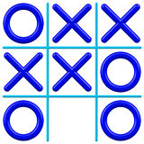Noughts and Crosses. The Noughts and Crosses game Stock Photography