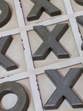 Noughts and crosses. Game Royalty Free Stock Images