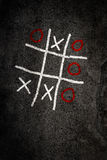 Noughts and Crosses game Stock Photos