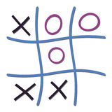 Noughts and Crosses game illustration Stock Photos