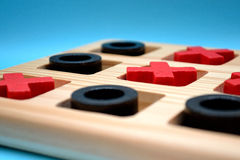 Noughts and Crosses. Wooden Game Named Noughts And Crosses Royalty Free Stock Photos