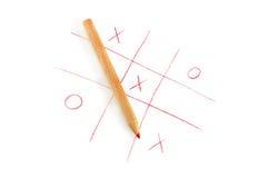 Noughts e jogo das cruzes Imagem de Stock Royalty Free