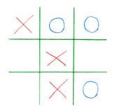 Noughts e jogo das cruzes Fotografia de Stock Royalty Free