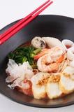 Nouille asiatique de fruits de mer Photo stock
