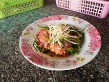 Nouille avec du porc en soja sauced Images libres de droits