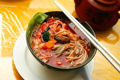 Nouille chinoise végétarienne photos stock