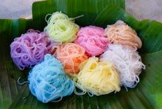 Nouille colorée de nourriture Image stock