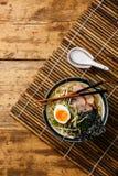 Nouille d'Udon avec du porc bouilli Photo libre de droits
