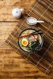 Nouille d'Udon avec du porc bouilli Images stock