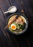 Nouille d'Udon avec du porc bouilli Photographie stock libre de droits