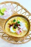 Nouille de noix de coco de Laksa photos stock
