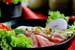 Nouille de Pho de boeuf, nourriture vietnamienne Photo libre de droits