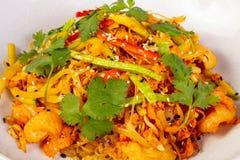 Nouille de riz avec le poulet photos stock