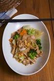 Nouille et légume de riz frit Image stock