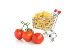 Nouille et tomates photo stock