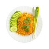 Nouille frite thaïe. photos stock