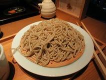 Nouille japonaise délicieuse de Soba Photographie stock libre de droits