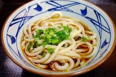 Nouille japonaise en soupe froide Photos stock