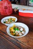 Nouille thaïe de porc Photos stock