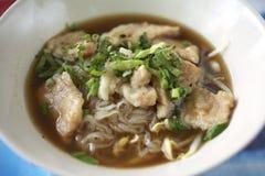 Nouille thaïlandaise de porc Images libres de droits