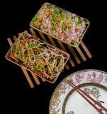 Nouilles chinoises et riz frit Images stock