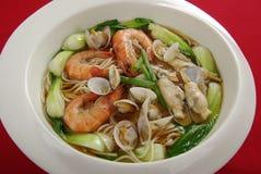 Nouilles de fruits de mer Photo libre de droits