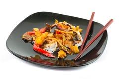 Nouilles de riz chinoises Images libres de droits