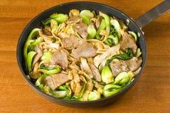 Nouilles de riz et friture de Stir de boeuf photo libre de droits