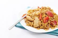 Nouilles de Satay de poulet Images stock