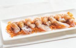 Nouilles de Shirataki avec la sauce de soja Images stock
