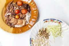 Nouilles du nord thaïlandaises Images stock