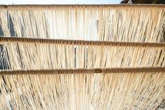 Nouilles faites main de Changhua Lukang Fuxing La manière traditionnelle de sécher la farine fine à Taïwan Photo libre de droits
