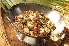 Nouilles frites avec la crevette Image libre de droits