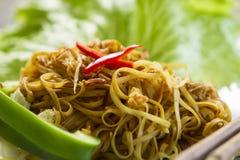 Nouilles frites de type chinois Photo libre de droits